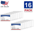16Pack Medicare Card Holder Protector Sleeves Clear Vinyl Credit Card Covers