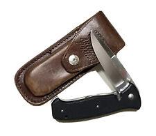 Al Mar Seki Japan Folding Lockback Dagger Knife Athur Furmer Leather Case