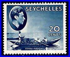 SEYCHELLES 1938 KGVI 20c FISHING CANOE SC#135 SG#140 MLH CV£42 (D5)