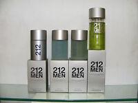 CAROLINA HERRERA 212 MEN homme Eau Toilette 50spr 100spr Après Rasage 100 ml
