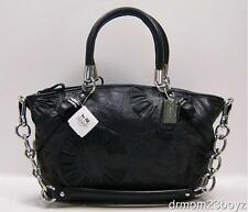 New NWT Coach Sophia Black Embellished Gathered Leather Shoulder Purse 16356
