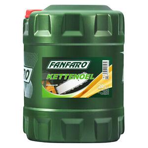20 Liter Sägekettenöl für Motorsägen Fanfaro Kettenöl Mineralisches Kettenhaftöl