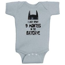 I Just Spent 9 Months In The Batcave Funny Batman Infant Romper by BeeGeeTees
