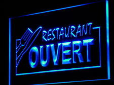 j184-b OUVERT Restaurant OPEN Food Neon Light Sign
