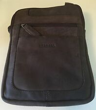 *NWT*LEABAGS DETROIT Unisex Buffalo Leather Messenger Travel Bag (Nutmeg)