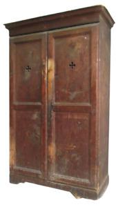 Armadio rustico in larice e abete- epoca 700 XVII sec- dispensa credenza  madia