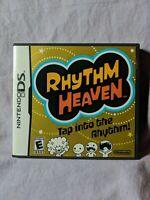 Rhythm Heaven Manual Artwork & Case ONLY (Nintendo DS, 2009) **NO GAME**