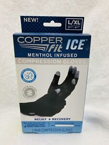 Copper Fit Ice Compression Gloves L/XL