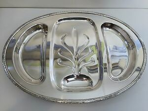 "International Silver Camille Meat Serving Platter, #6057, 21"" x 15"" x 1 1/4"" H"