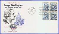 USA3 #1283B U/A COVER CRAFT FDC BL4  George Washington