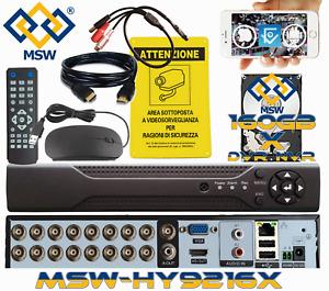 DVR NVR 16 Canali con HD 160GB 5MP 3MP 1080P IP Sistema di Videosorveglianza P2P