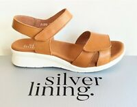 Klouds Silver lining Shoes Comfort wedge leather Sandals Silver Lining Fiona Tan