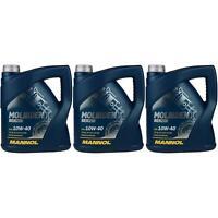 3x 4 Liter  MANNOL Motoröl Molibden Benzin 10W-40 API SL/CF Engine Oil Öl