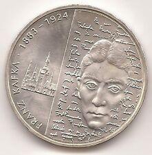 10 Euro Gedenkmünze FRANZ KAFKA, G-KARLSRUHE, 2008, uncl., SILBER!