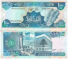 Lebanon 1000 Livres P#69a (1988) Banque du Liban UNC