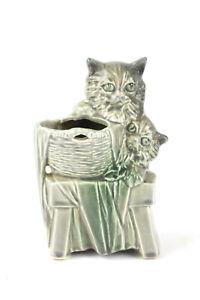 """Vintage McCoy Pottery Kitten Planter Vase- 7"""" Tall- MINT!"""