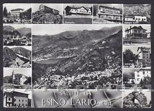 LECCO ESINO LARIO 26 RIFUGI ALBERGHI - SALUTI da... VEDUTINE Cartolina viag 1962
