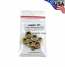 Jawco #M7 Metric Rethreading Die Set Thread Restore 7pc 6-12mm MADE IN USA