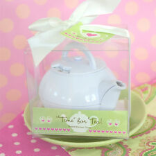 50 Tea Time Teapot Timer Birthday Bridal Shower Wedding Favors in Gift Box