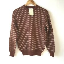 urban outfitters Urban Renewal Jumper Made In Italy Rust Brown Wool Blend S /10