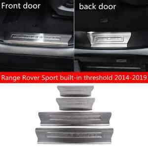 Car Door Sill Scuff Welcome Pedal Protect For LR Range Rover Sport 2014-2019