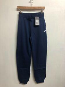 Asics Women's Cuffed Pant Sport Knit Cuffed Bottoms Trousers - Navy - New