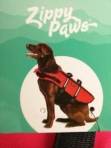 Zippy Paws Dog Adventure Life Jacket Sz Large High Visibility Flotation Device.