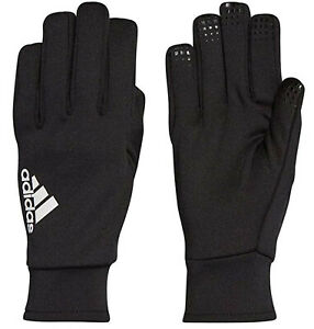 Adidas Boys Football Gloves Field Player Thermal Size 6 Black 9 to 10 Years New