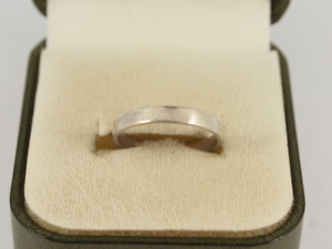 Wedding Band Sterling Silver Ladies Stunning Size O 925 1.6g Hs95