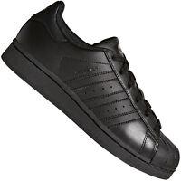 adidas Originals Superstar J Junior-Sneaker Kinder-Turnschuhe Schuhe All Black