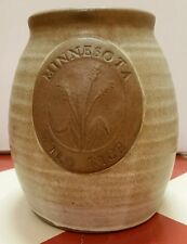 Minnesota Wild Rice crock Pottery Stoneware Jug Jar Kitchen decor Decoration vtg