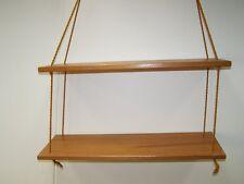 Altes String Wandregal, 60er 70er Jahre Regal Ablage Garderobe Holz