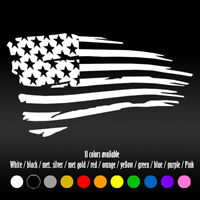 "7""  Distressed American Flag USA Laptop Bumper Car Window Diecut Vinyl Decal"