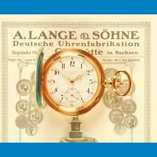 Repetition A. Lange & Söhne 750 18K Gold Taschenuhr TAU Originalzertifikat