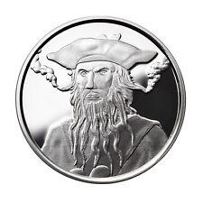 1 OZ SILVER COIN *BLACKBEARD* EDWARD TEACH PIRATE SILVER COIN # COA ONLY 3000