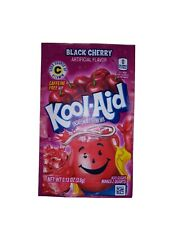 5 Packs of Kool Aid Black Cherry Flavor Drink Mix Packet Gluten Free FREE SHIP
