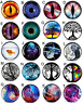 Pair of Acrylic ABSTRACT  Picture EAR GAUGES Plugs Tunnels Double Flared Screw