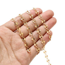 1meter Gold Plated Stainless Steel Hollow Chain Findings for Necklace Making