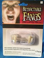 Retractable Fangs - Fake Retractable Vampire Fangs - Great Theatrical Prop
