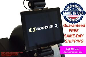 "Concept2 Model C and D - Phone Tablet iPad Holder up to 11"" diagonal screen size"