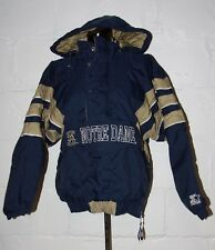 VTG Stater Notre Dame Fighting Irish Pullover Jacket Coat Sz S Small