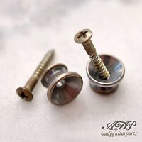 Attacchi per Tracolla Gotoh Strap Button Strat Nichel Vintage (Relic ) EP0N2Aged