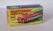 Repro Box Matchbox Superfast Nr.20 Lamborghini Marzal