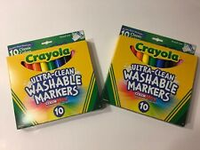 Washable Crayola 10pk Ultra Clean Washable Markers Color Max Lot Of 2 Packs
