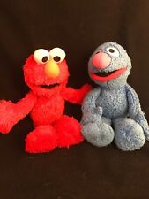 "Elmo & Grover Plush Toys Sesame Street Stuffed Animals 10"" Long Collectible Lot"
