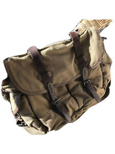 POLO RALPH LAUREN Shoulder Bag Leather Oiled Canvas PONY Tag