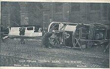 POSTCARD  YORKSHIRE  BRADFORD  Car smash  Church  Bank