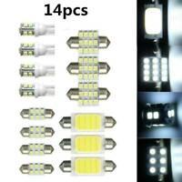 14pcs Car Interior White LED Light Bulb Dome Trunk License Plate Lamp Kit Set UK