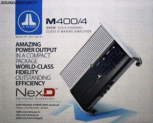 "JL AUDIO M400/4 4-Channel Class D Marine Full-Range Amplifier ""BRANDNEW"""