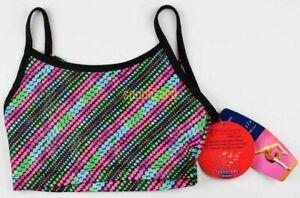 Girl's Dance Cheer Gymnastics Polka Dot Top New NWT Size XS S M 4 5 6 6x